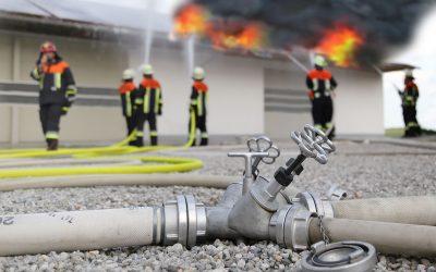 Intervention  des sapeurs pompiers sur des sites équipes d'installations  PV